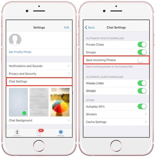 Как отключить автоматическое сохранение видео и фото в WhatsApp, Viber, Telegram на iPhone